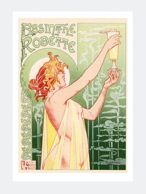 Plakat art deco plakaty vintage absinthe