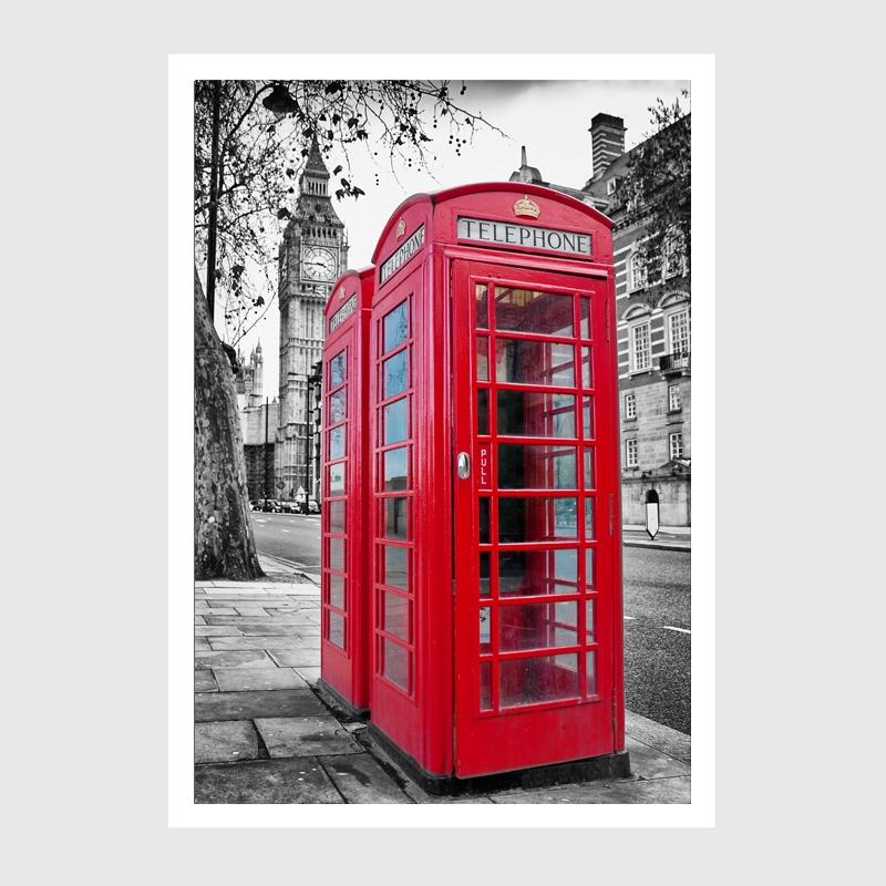 Plakat London Calling. Duży plakat czerwono czarny Londyn.