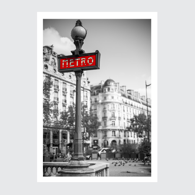 Plakat Paryż stacja metra
