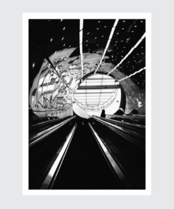 Plakat – stacja linii warszawskiego metra