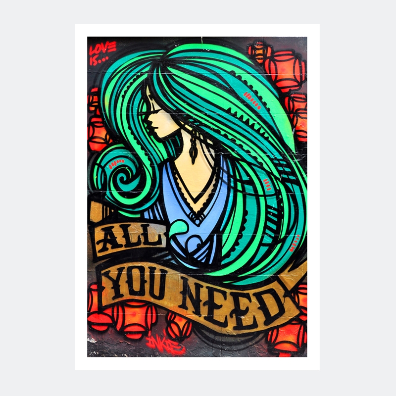 Plakat grafitti – Love is All You Need
