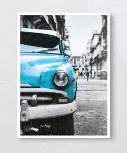 Plakat Cuba Havana Blue