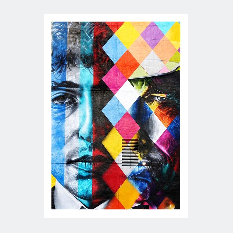Plakat Graffiti Bob Dylan