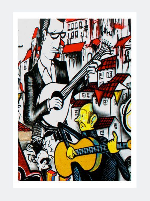 Plakat Graffiti Fado