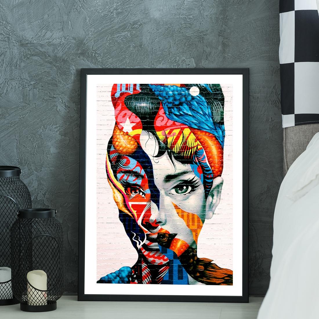 Plakat Graffiti Audrey Hepburn