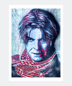 Plakat Graffiti David Bowie