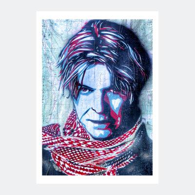 Plakat Graffiti David Bowie