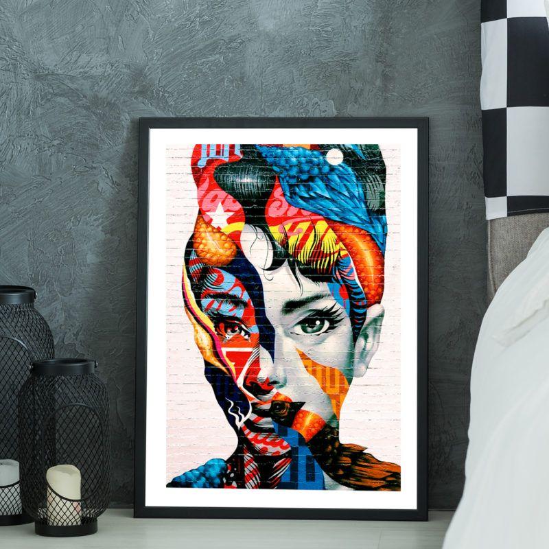 Sklep z plakatami Plakat Graffiti Audrey Hepburn