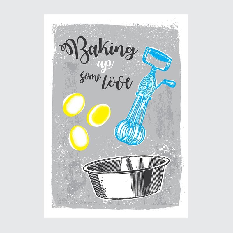 Plakat Kuchnia Baking up Love
