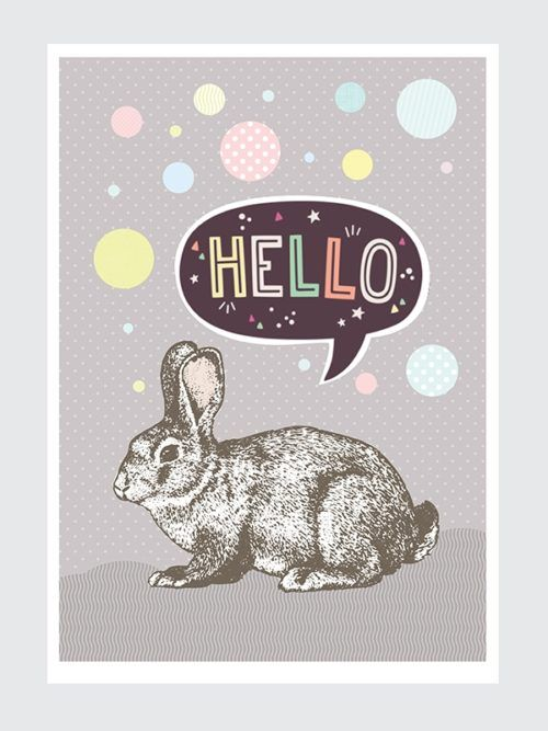 Wielkanocny Plakat do pobrania z Królikem za darmo