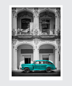 Plakat Cuba Havana Limuzyna Turkus