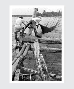 Plakat chińskie sieci rybackie