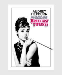 Plakat filmowy Audrey Hepburn Śniadanie u Tiffaniego