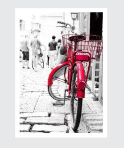 Plakat z rowerem Amsterdam