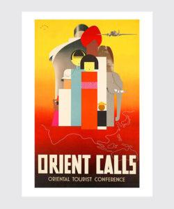 Retro Plakat Orient Calls Japonia