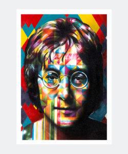 Plakat Graffiti John Lennon Upfest Festival 2017