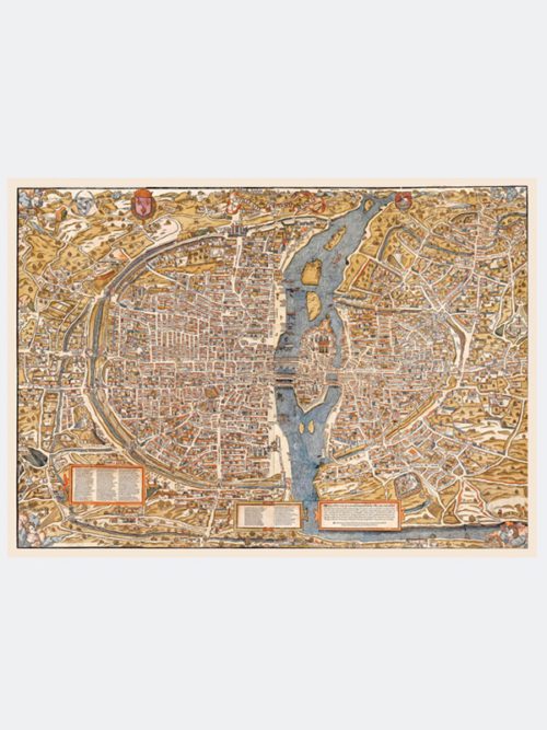 Mapa średniowiecznego Paryża z 1550 roku