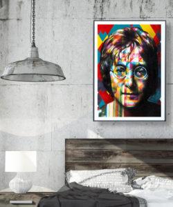 John Lennon Plakat Graffiti, Upfest Festival 2017
