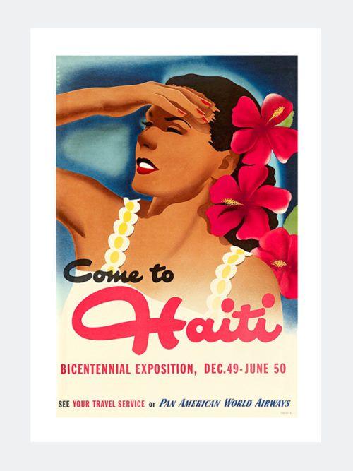 Plakat Retro - Dziewczyna z Haiti