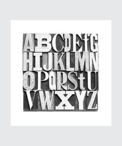 Czarno Biały Plakat Czcionka Gutenberga