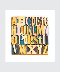 Plakat Czcionka Gutenberga Kolorowy