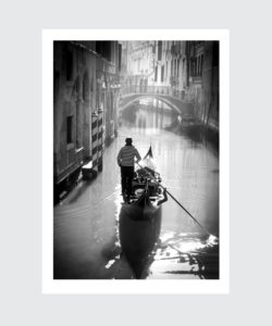 Plakat Wenecja gondole
