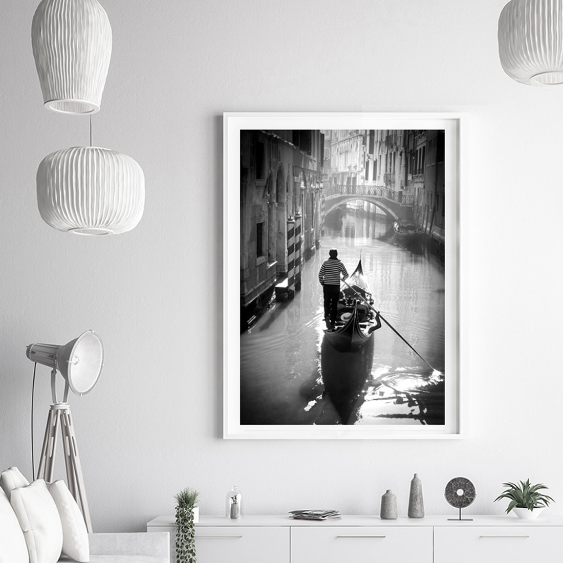 plakat wenecja gondolier 2