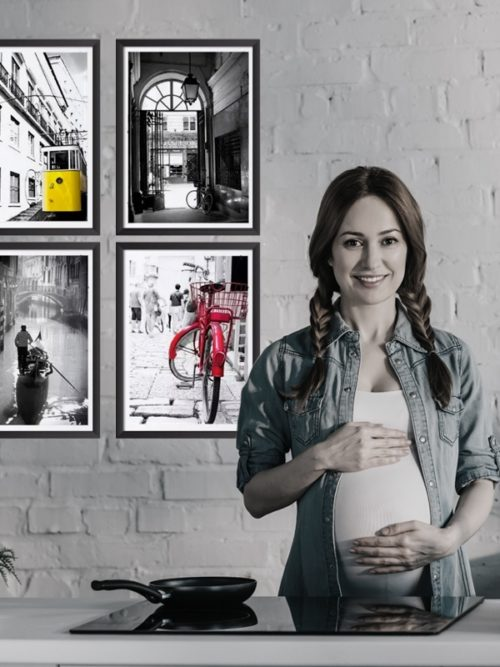 plakaty z miast europy w ramie