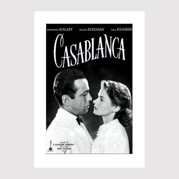 """Plakat filmowy """"CASABLANCA"""" plakaty filmowe z kina retro"""