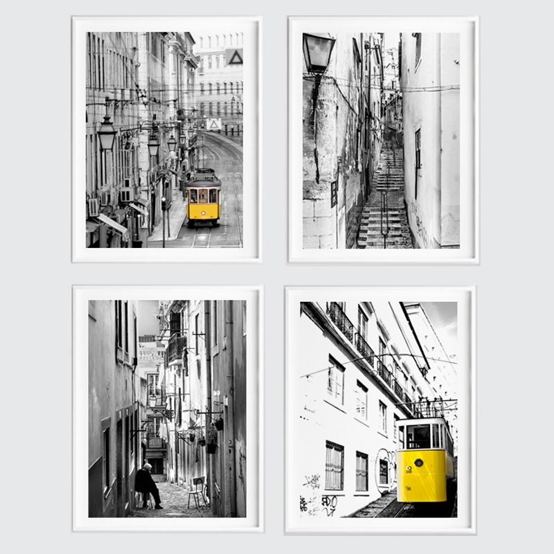 Zestaw Plakatów Lizbona W Ramach