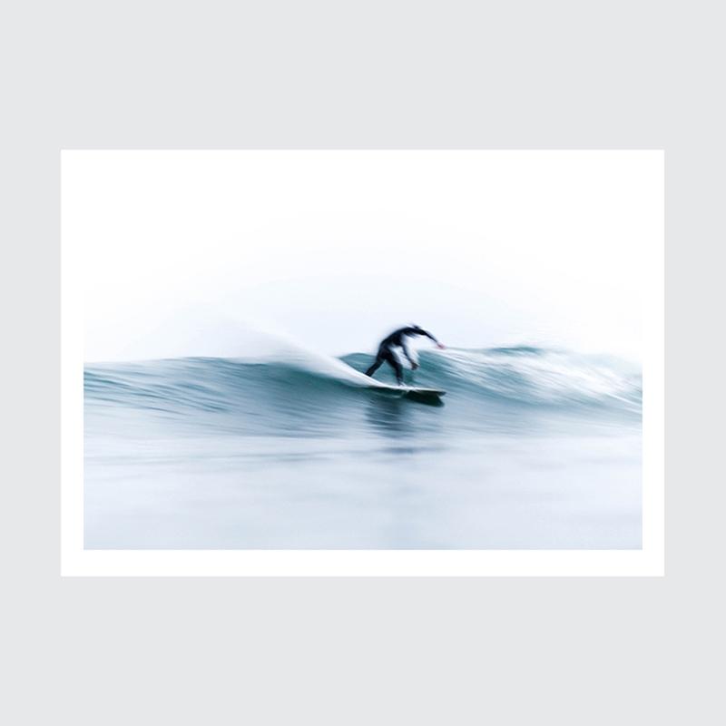 Plakat Surfer w Nazare