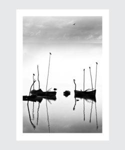 Plakat Indie łodzie we mgle