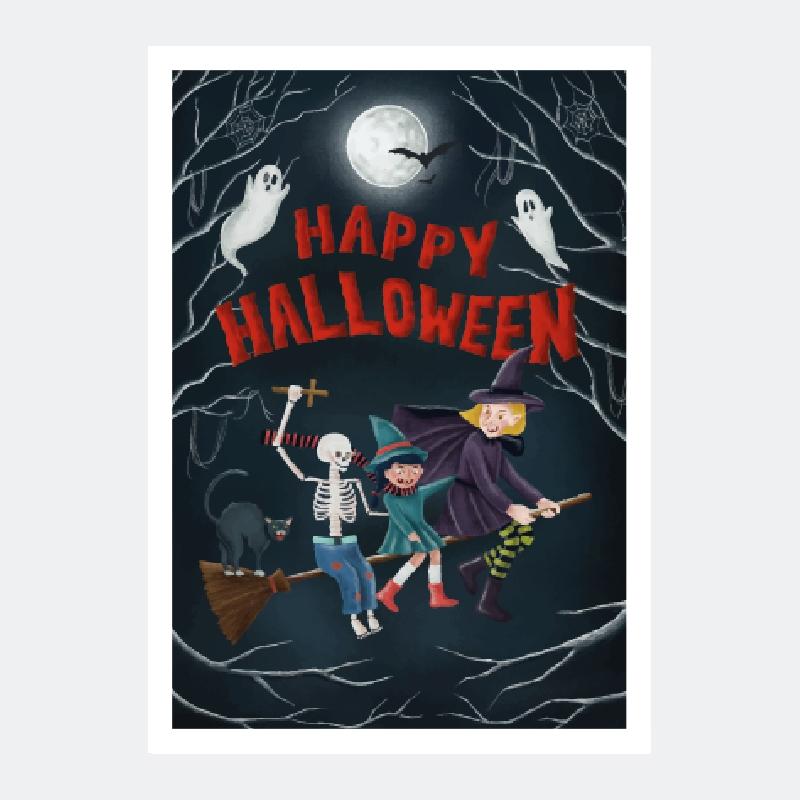 hallowen goście plakat za darmo