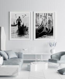 Dwa plakaty z Wenecji w ramkach