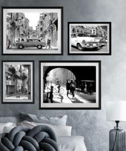 zestaw plakatów z Kuby na ścianę, Kuba Hawana zdjęcie uliczki, Havana Cuba plakat fotografia