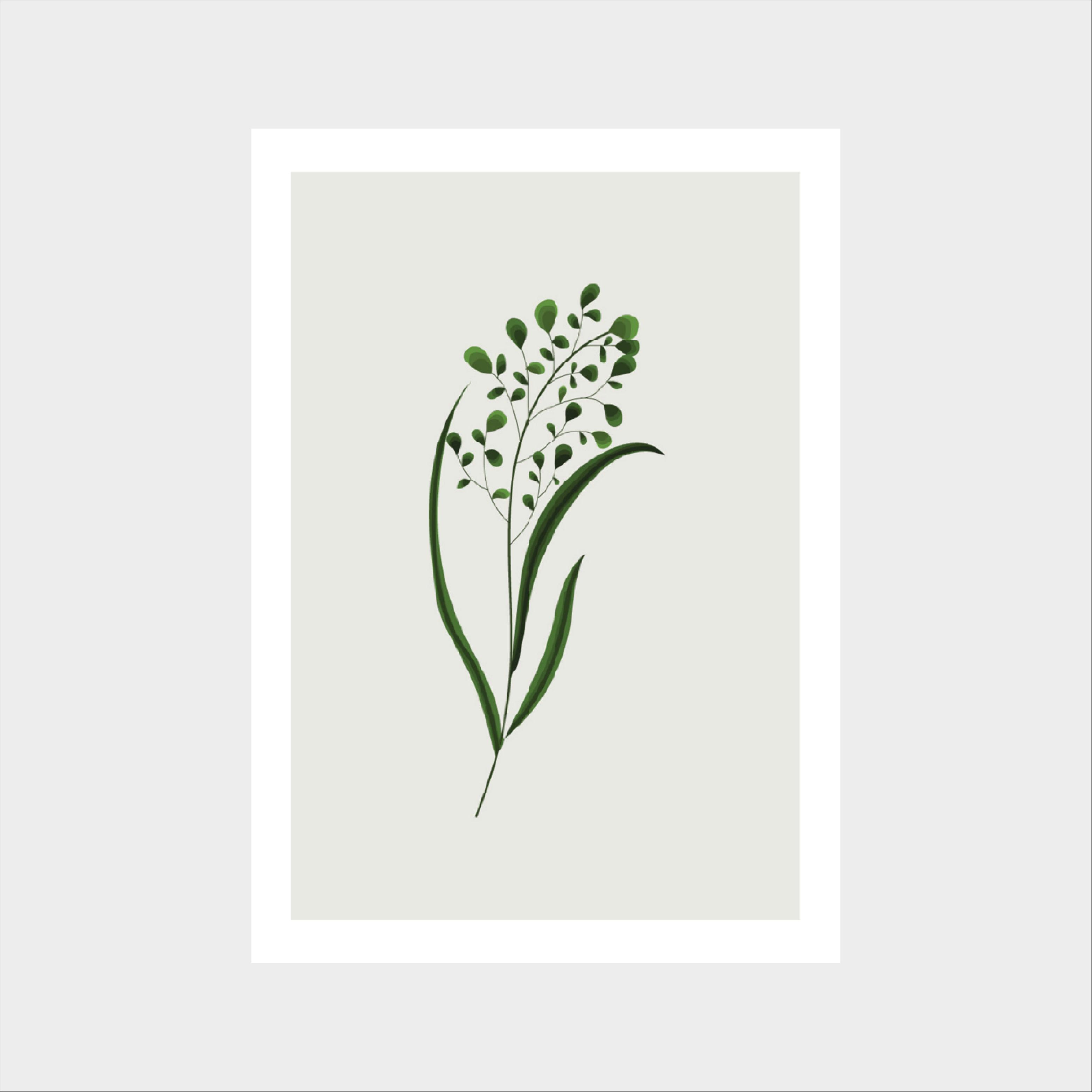 obrazek z roślinami dekoracja do salonu jadalini