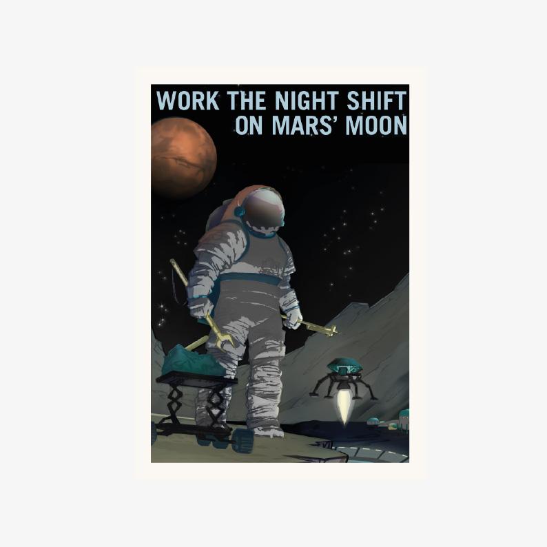 plakaty do pobrania plakaty kosmos Plakat NASA KOSMONAUTA NA księżycu