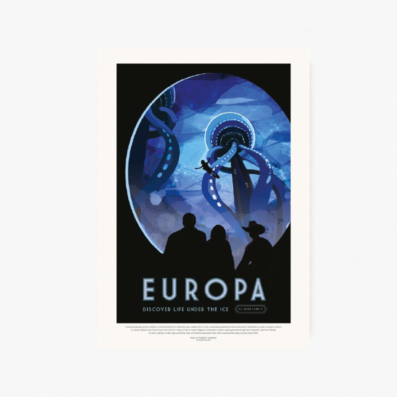 plakaty kosmos plakat do pobrania do druku NASA Europa