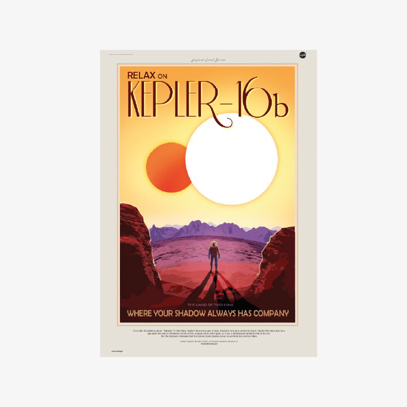 kosmos plakat plakaty NASA KEPLER16