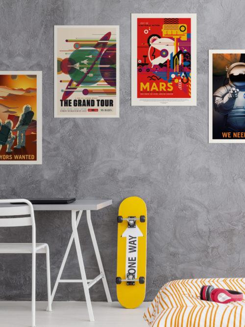 Plakaty do pokoju chłopca Plakaty kosmos plakaty do pobrania NASA 2021