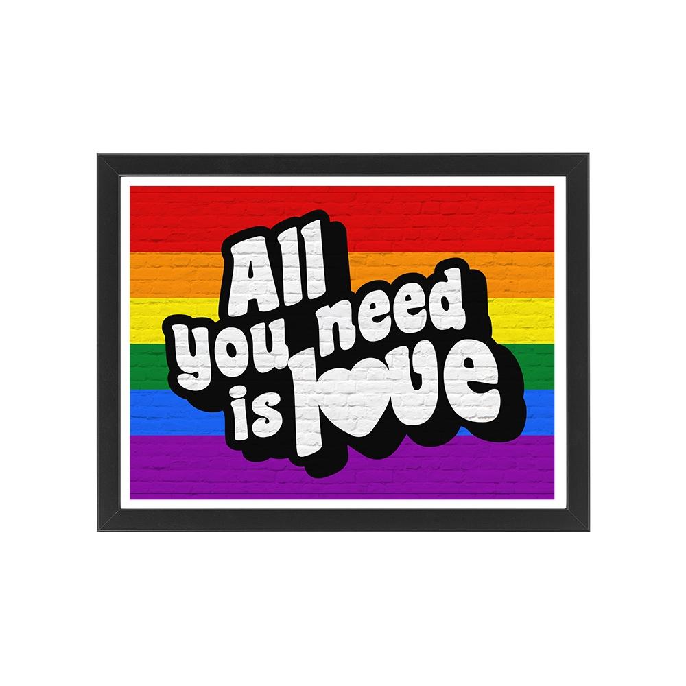 Prezent na walentynki dla niego Plakat Flaga LGBT